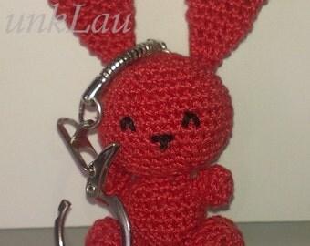 Bunny puppet crochet key