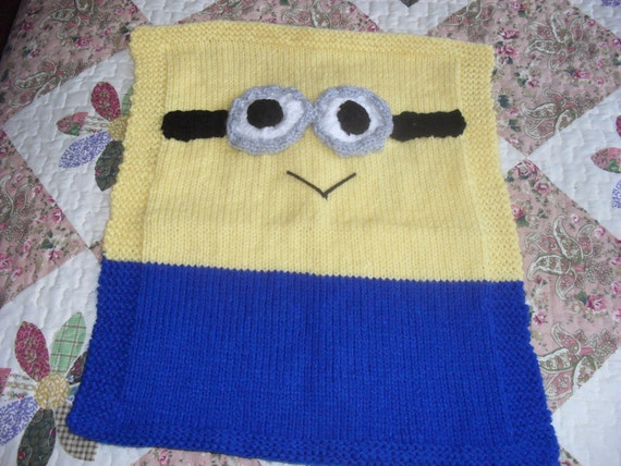Minion blanket knitting pattern by TOYPATTERNS on Etsy