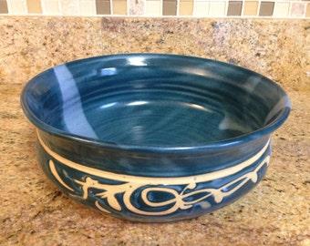 Lg dark green bowl