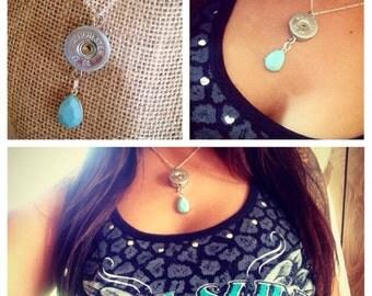 Teal 12GA necklace