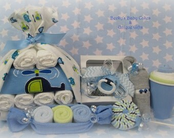 Onesie Cupcake, Baby Boy Gift Set, Baby Boy Gift Set, Unique Baby Gift, Baby Boy Shower Gift, New Mom Gift, Pregnancy Gift