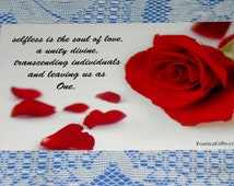 UNIQUE POETRY POSTCARD - Choice of 3 Different Designs - Original Artist Romantic & Inspirational Poems