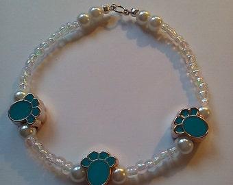 Paw Print Beaded Bracelet