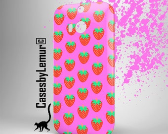 Strawberry HTC one m9 case Htc one m8 case Htc one m7 case HTC m9 case Htc one X case Htc m8 case Htc m7 case Htc Desire 820 case cover case