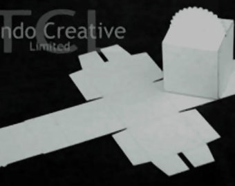 3D Scalloped Box cutouts, Tando Creative, greyboard, Papercrafts, Altered Art, Wedding