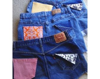 Custom Pocket High Waisted Shorts