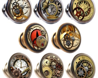 Steampunk Decorated Zinc Alloy 30mm Drawer Cupboard Cabinet Knobs