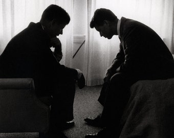 John and Bobby Kennedy Poster, On the Campaign Trail, Democrats, Equality, Civil Rights Leaders