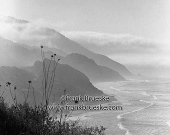 Foggy Oregon Coast, Oregon Coast, Oregon Coastal Scene, Oregon Fine Art Photography, Oregon black and white photography