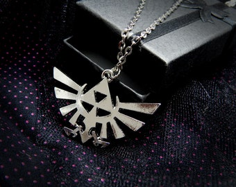 Hylian Crest Necklace - Zelda Necklace for Legend of Zelda Nintendo video game jewelry Triforce Link FREE SHIPPING