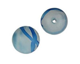 10mm Plastic Swirl Beads-Blue  (144pcs)