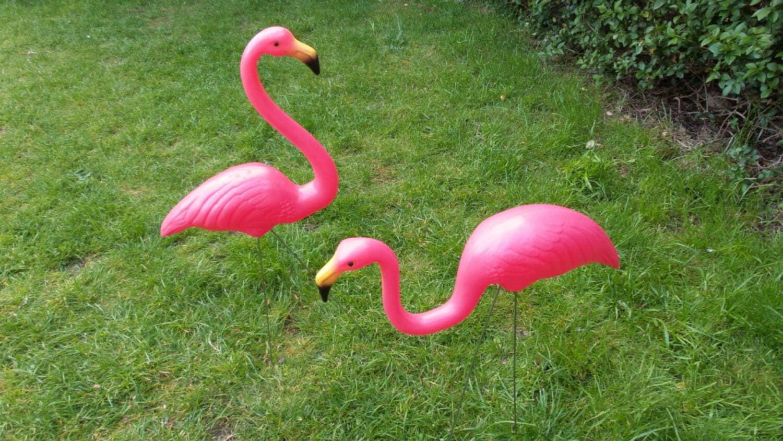 Garden Flamingo Ornament Kitsch Retro By Myoldenglishvintage