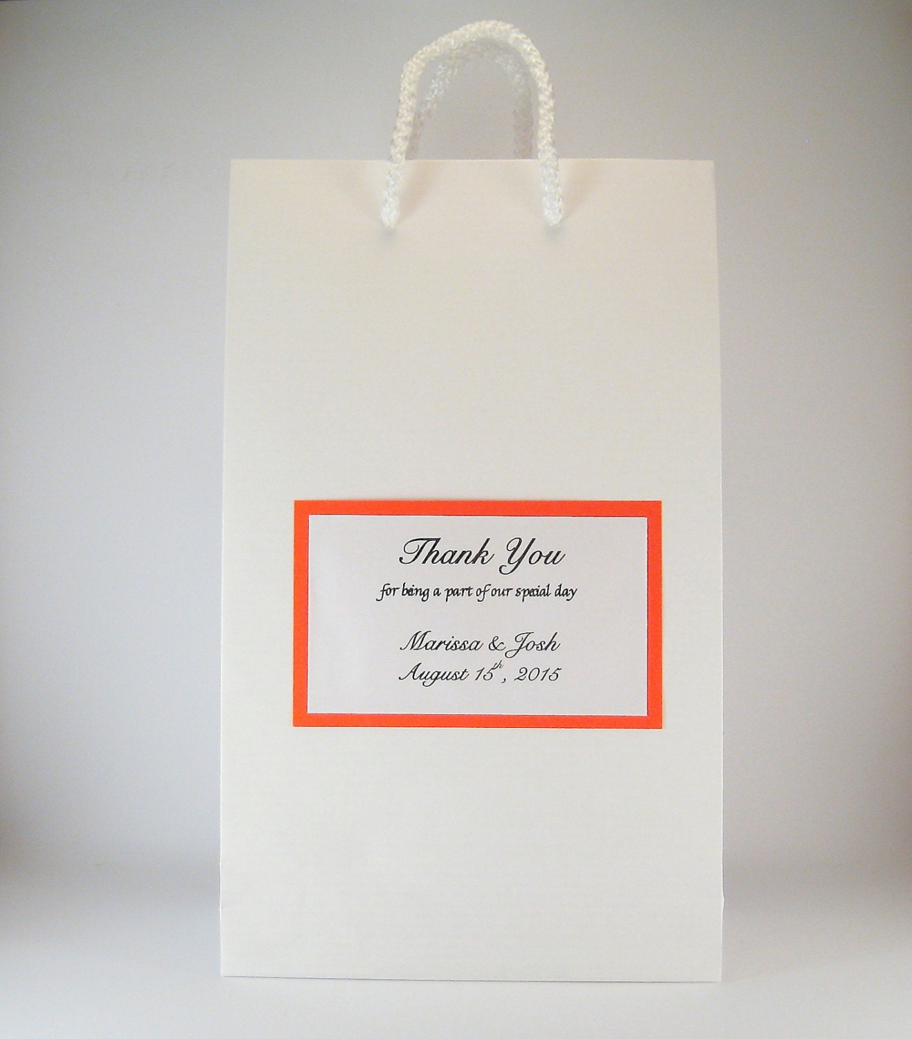 Wedding favor bags 50 personalized party gift bags white for Wedding favor gift bags