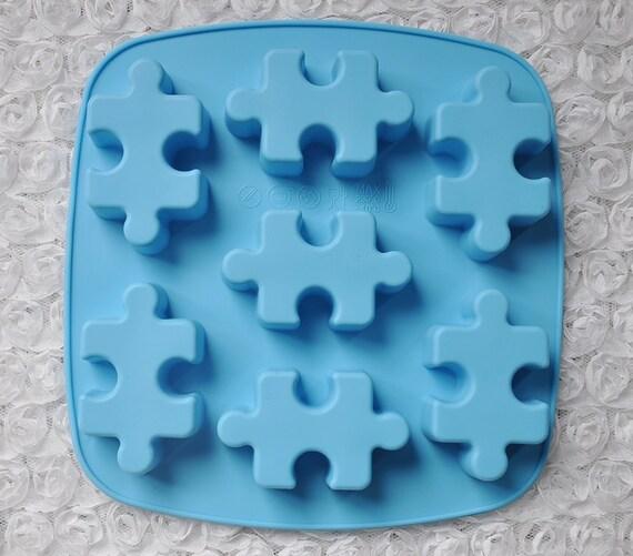 7 cavit puzzle cake moule savon moule souple silicone moule - Moule a cake silicone ...