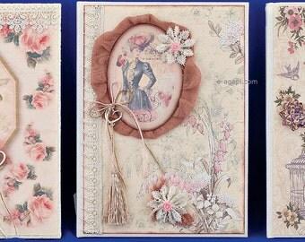 Vintage fashion wedding wish book * Handmade wedding album * Lace burlap scrapbooking album guestbook * Romantic wishes guests book Family