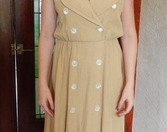 Tan 1950's inspired dress