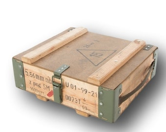 Polish Wooden Ammo Box,Ideal Storage or display, with carry handle