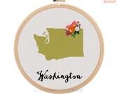 Washington Cross Stitch Pattern Modern Cross Stitch Pattern Counted Cross Stitch Pattern Washington Art Washington State Art Washington