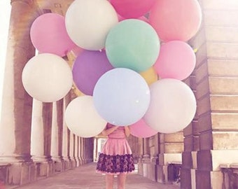"36"" giant balloons super large round wedding balloons photo prop round balloons big balloons /// 7 colors"