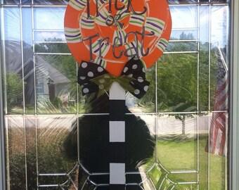 Halloween Lollipop Wooden Door Hanger