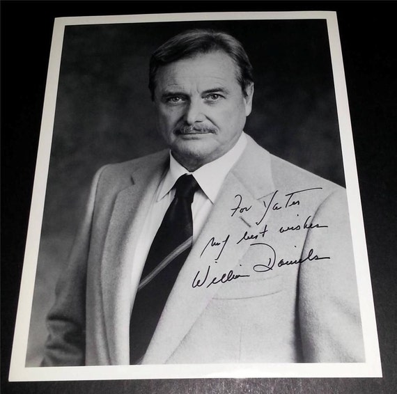 William Daniels autograph Signed Autographed card with free bonus ...