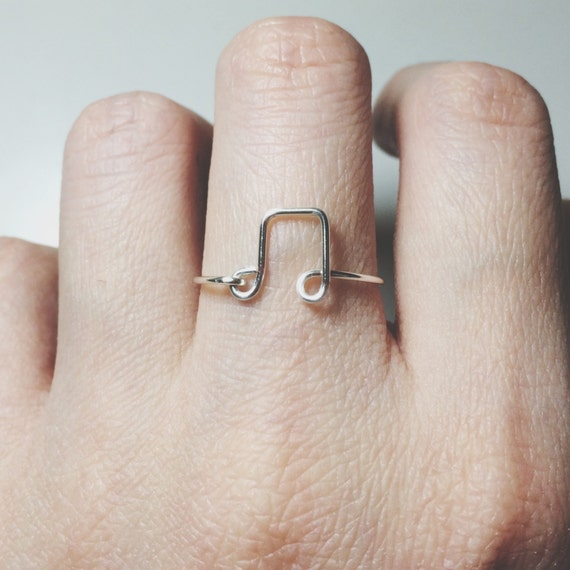 Gold Treble Clef Ring