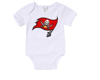 Custom Tampa Bay Buccaneers Onesies / T shirts with custom name and number,