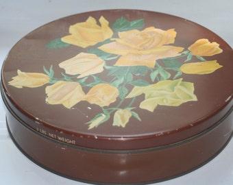 Vintage Helen Harrison, Candies Tin,  Chicago Illinois, Collectible Tin