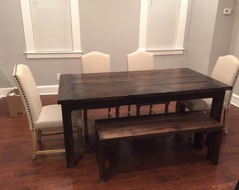 Reclaimed Barnwood Parsons Table