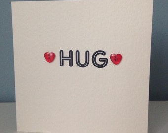 Hug - condolence/sympathy/love you friend card