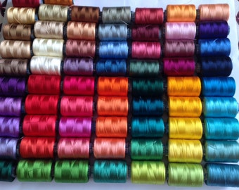 Silk Threads, 52 Spools Of Silk Threads, Art Silk Threads, Indian Threads, Embroidery Threads, Bulk Silk Threads, Wholesale Silk Threads