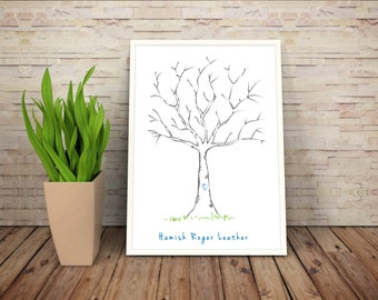 Baby Shower Thumbprint Tree Guestbook