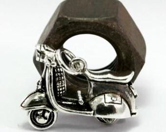 Vespa, silver pendant  --  2392
