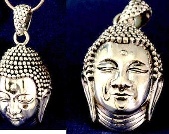 Buddha pendant 925 sterling silver  -- 3682