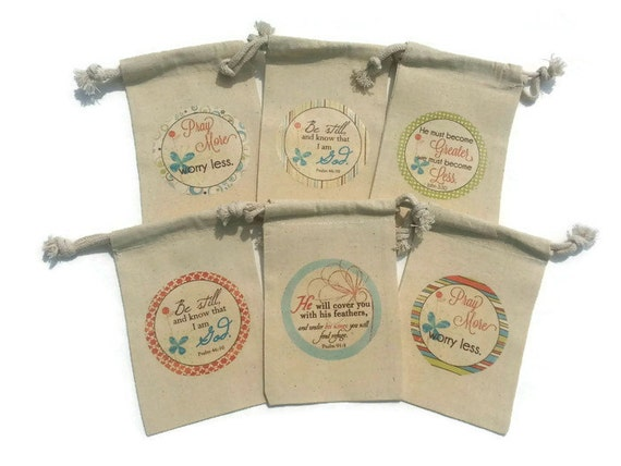 Religious bible verses set of 6 muslin 4x6 just because like this item negle Image collections