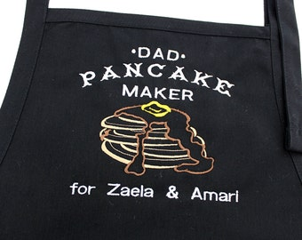 Dad or Grandpa Pancake Maker Apron| Dad Pancake Apron | Personalized Daddy Gift | First Father's Day | Dad who Cooks