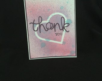 Splattered Thank You Card