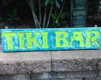 Distressed Tiki Bar Sign