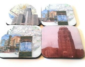 Buffalo, New York Rubber Coasters. Set Of Four. Made By Mod.
