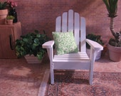1:6 scale Adirondack Chair, Pillow and Planter Set