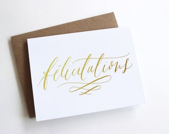 Felicitations Card - Congratulations / Congrats / French Card