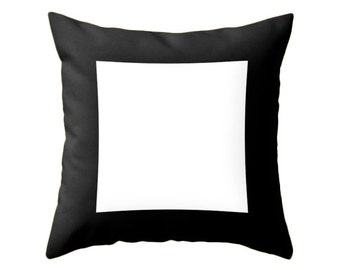 Geometric pillow square pillow black and white pillow geometric throw pillow geometric pillow geometric cushion modern minimal pillow