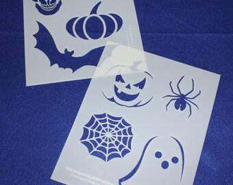 """2 Piece Halloween Set  8"""" x 10"""" - Stencil-  14 Mil  Myler"""