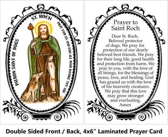 St roch prayer for sick dogs