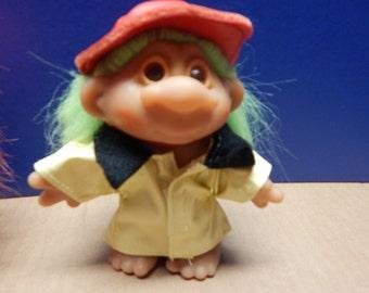 ORIGINAL TROLL Doll Rain Coat with Hat  Thomas Dam - Great Condition