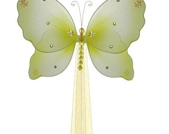 Yellow BUTTERFLY CURTAIN TIEBACK - Emily Butterfly - yellow -  curtain ties, tie back, decorative butterflies
