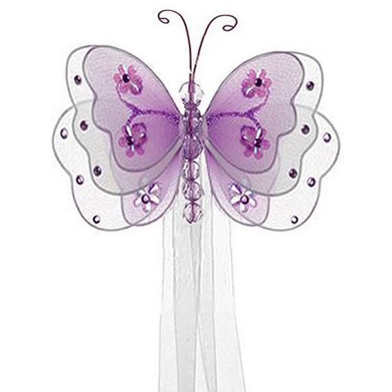 Purple Butterfly Curtain Tieback Sasha Butterfly Curtain