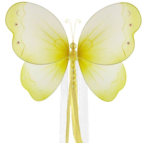 Yellow Butterfly Curtain Tieback Brianna By Butterflygrove