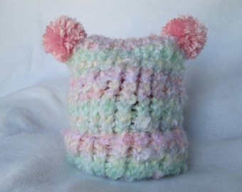 Baby Girl Multicolor Square Hat