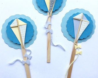 Kite Cupcake Toppers
